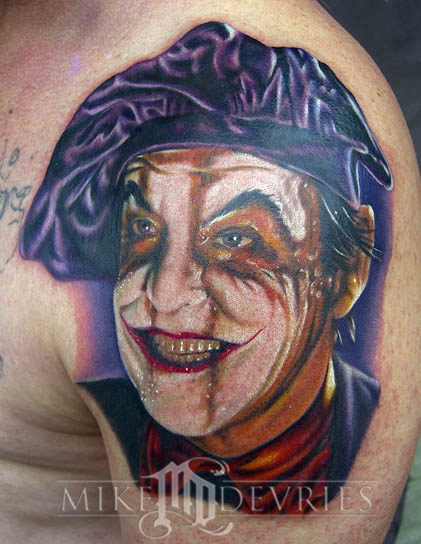 Mike DeVries - The Joker Tattoo